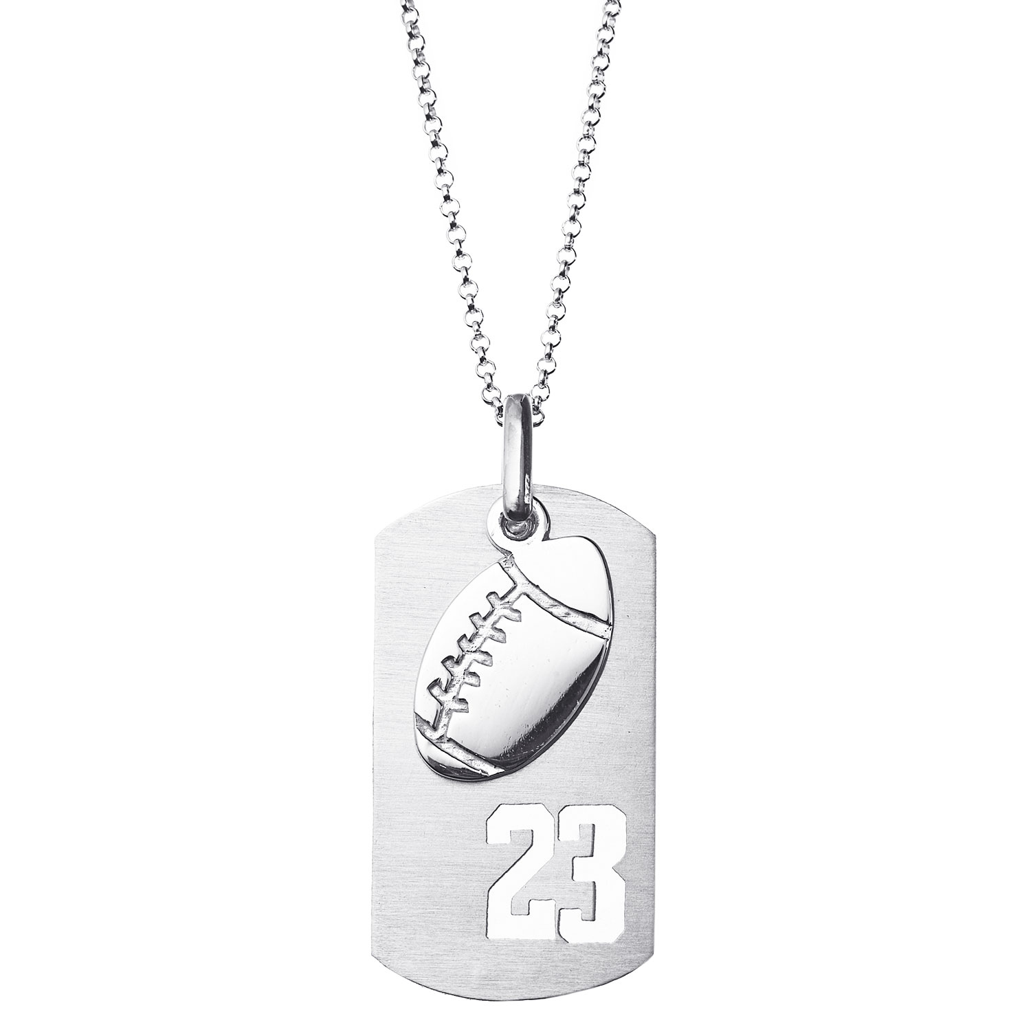 Zales 20.0mm NHL Team Logo Pendant in Sterling Silver (Select Team) - 20