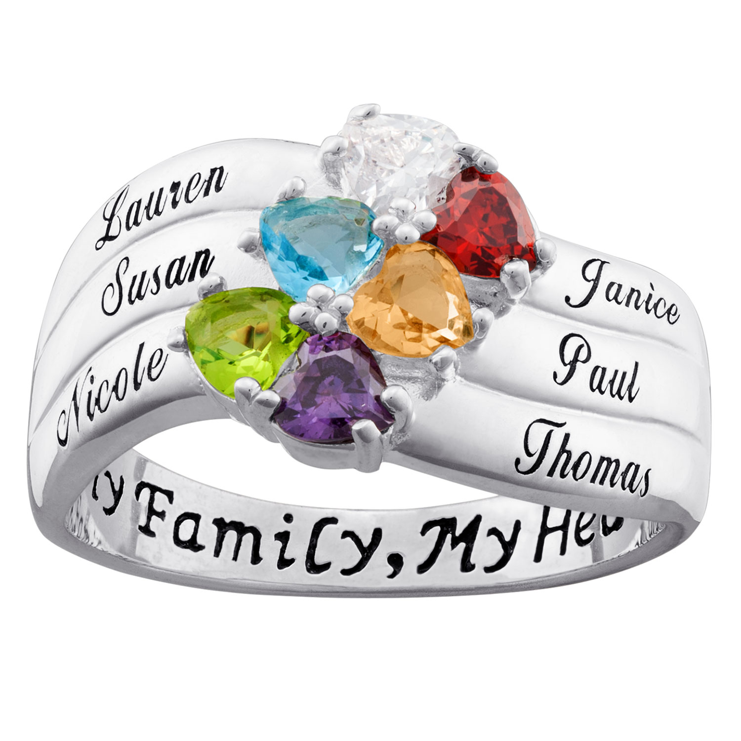 product birthstone mothers mother s sterling wid family rings