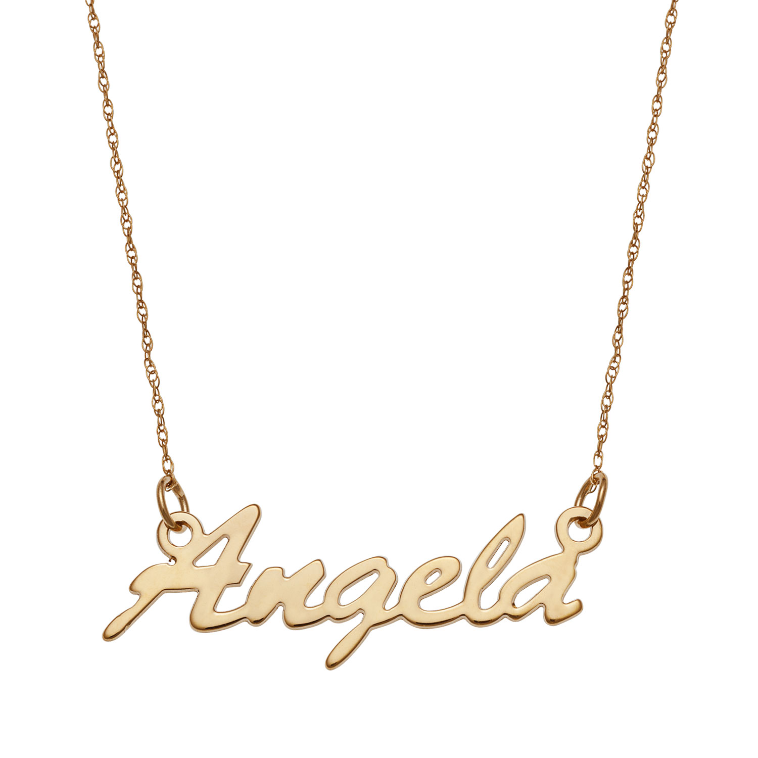personalised made letters shop necklace jewellery australia in gevery name gold