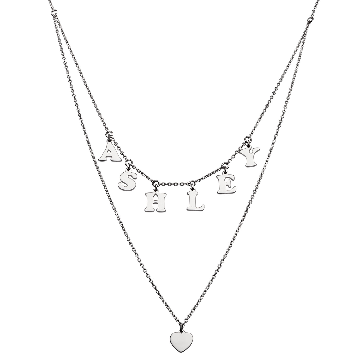 Double Strand Name Necklace In Sterling Silver 1 Name Zales
